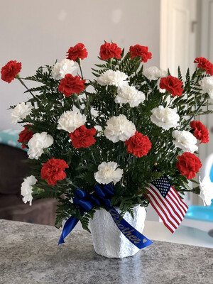 Red, White, And Blue Mache