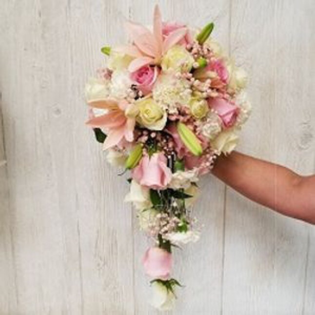 Rose And Lily Cascading Bouquet