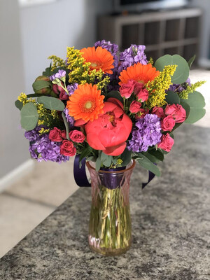 Colorful Peony Bouquet