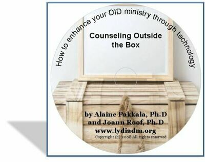 Counseling Outside the Box, CD How to Enhance you DID ministry through technology - by Alaine Pakkala, Ph.D.