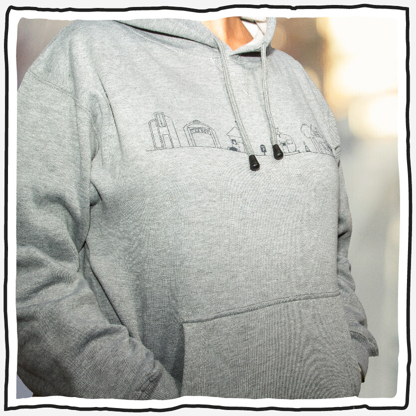 Hoody - Grey Village - Womens