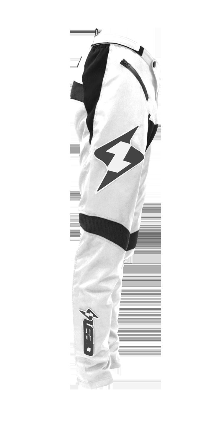 Lead Race Pants White/Black
