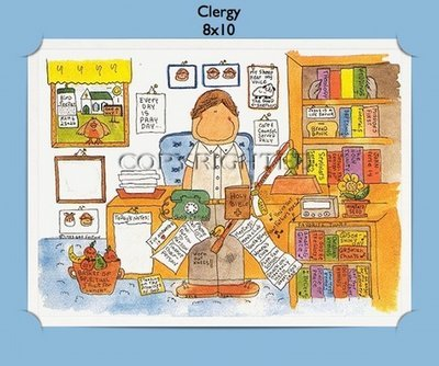 Clergy - Personalized Cartoon Gift