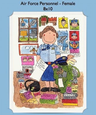 Air Force - Personalized Cartoon Gift (Female)
