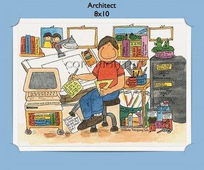 Architect Personalized Cartoon Gift