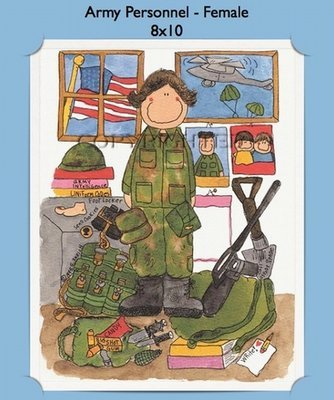 Army Personalized Cartoon Gift (Female)