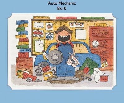 Automobile Mechanic  - Personalized Cartoon Gift