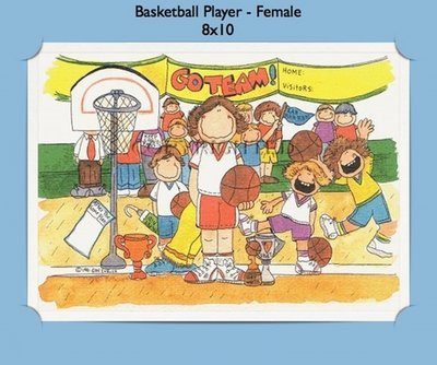 Basketball Player - Personalized Cartoon Gift