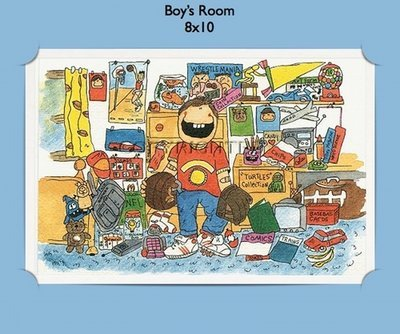 Boys Room  - Personalized Cartoon Gift