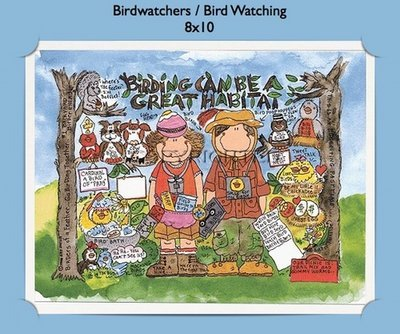 Bird Watchers  - Personalized Cartoon Gift