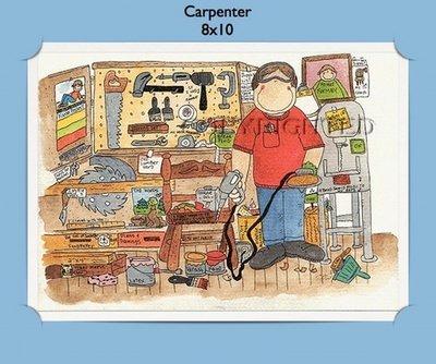 Carpenter - Personalized Cartoon Gift