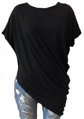 Crna asimetrična tunika