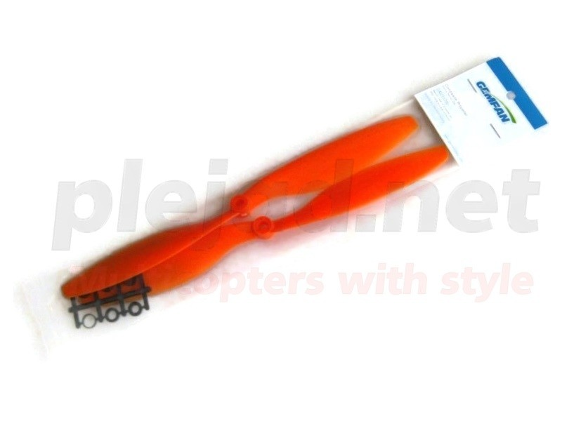 "2 Stk. Propeller 10"" orange (li.-, re.-drehend)"