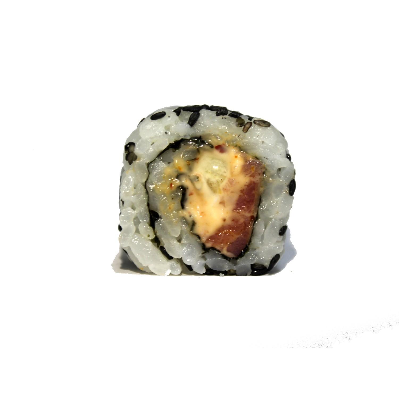 Острый ролл с копченым лососем (6 шт.)