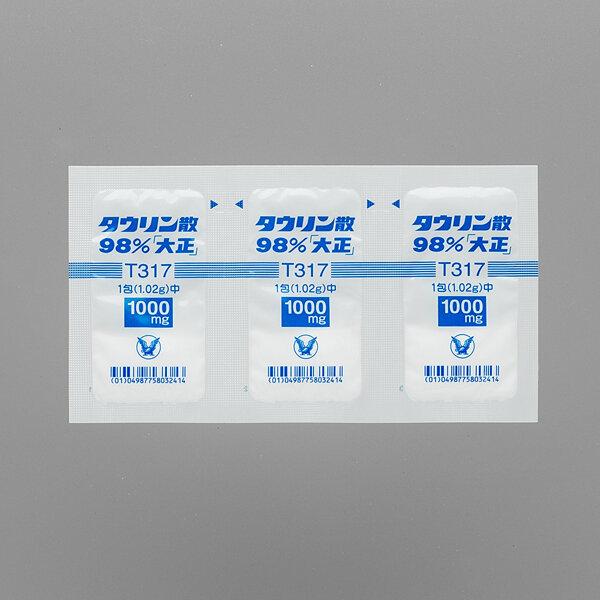 """Taurine powder 98% """"Taisho"""" 1.02g 90 pack."""
