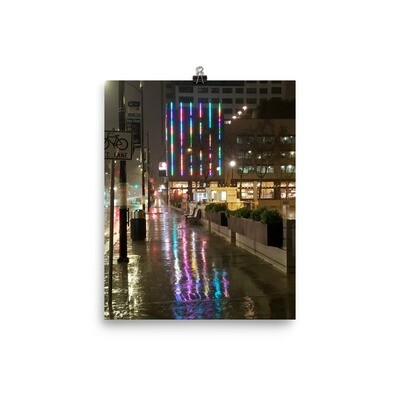 Poster SJ Rain Reflections Rainbow lights