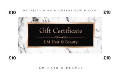 £10 Gift Certificate (in salon)