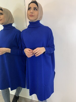 Knit Turtle Neck Electric Blue