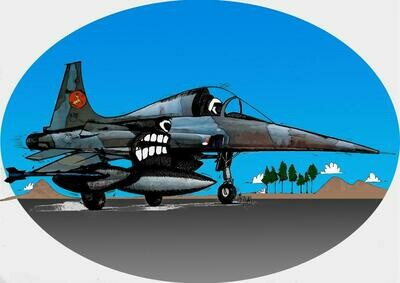 Dutch Air Force NF-5 Aviation Caricature, 11