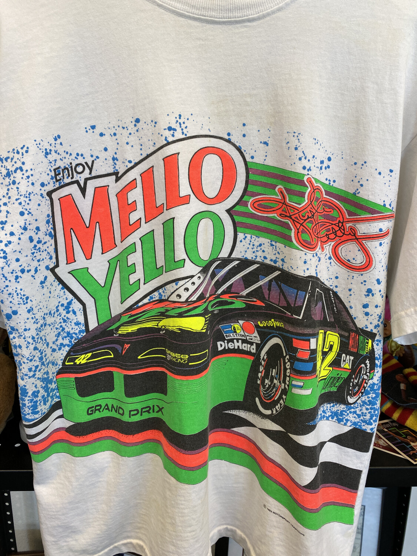 Mellow Yellow Racing Tee 1993 Size Medium