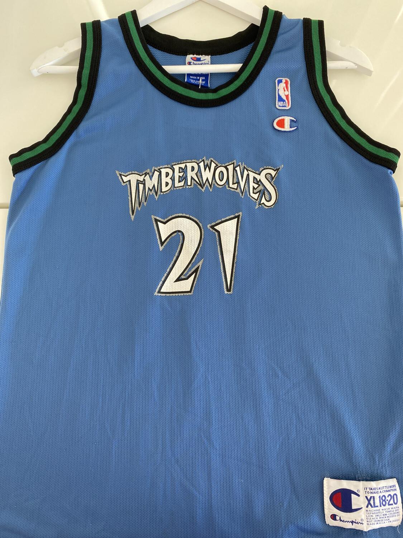 Timberwolves #21 Garnett Jersey. SIZE: S