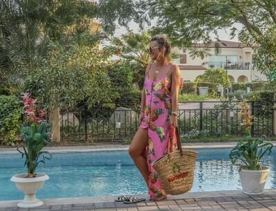 The Florida Girl Dress: Pink Pineapple Print