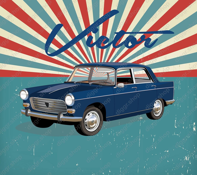 Geboortekaartje Peugeot 404 (207)