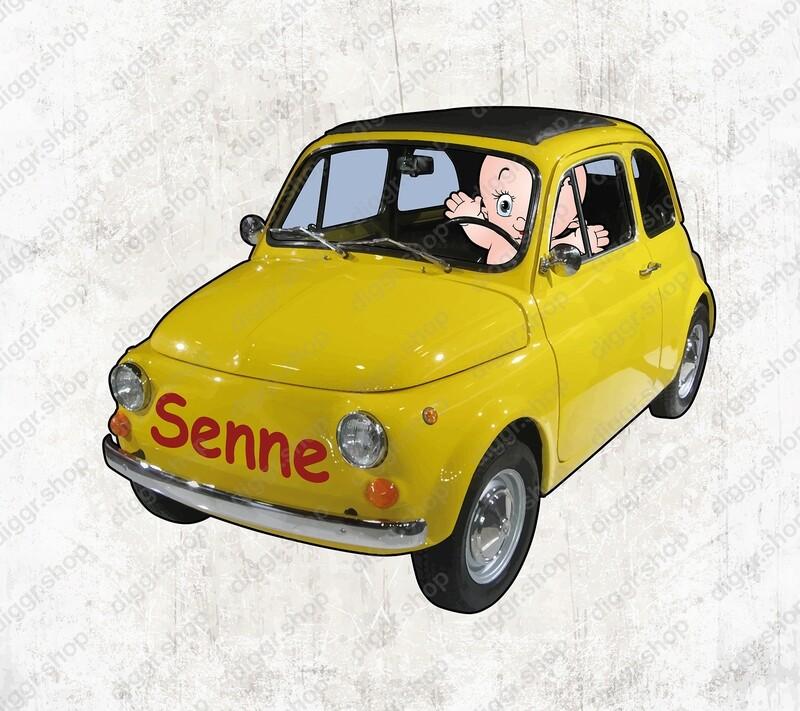 Geboortekaartje Fiat 500 (1328)
