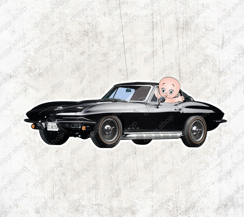 Geboortekaartje Corvette (1339)