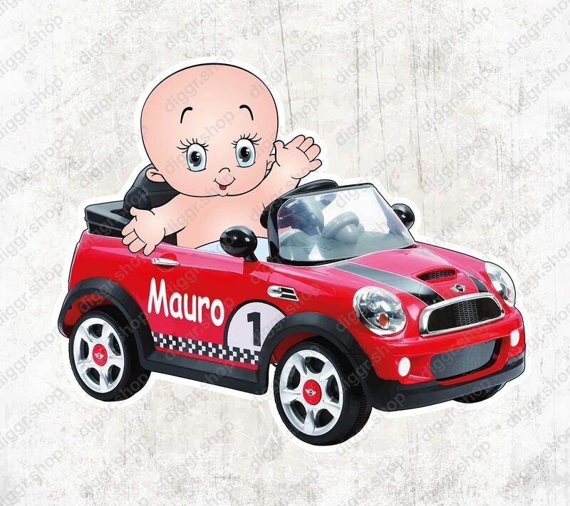 Geboortekaartje Mini trapauto (1416)