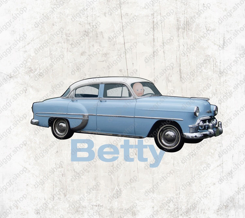 Geboortekaartje Chevrolet Bel Air (2124)