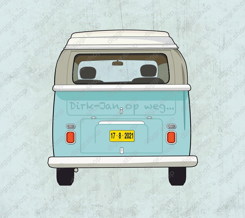 Geboortekaartje VW bus (19058)