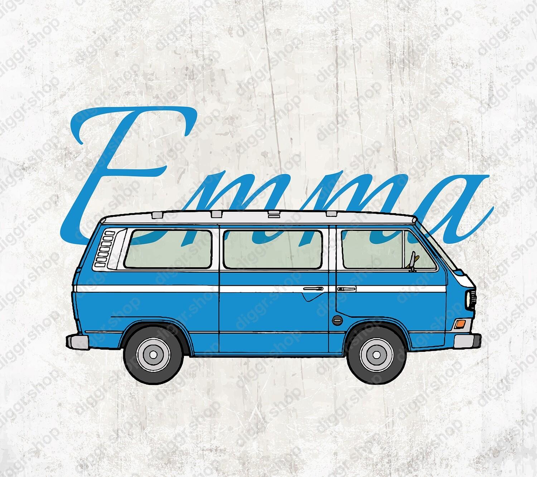 Geboortekaartje VW bus (20005)
