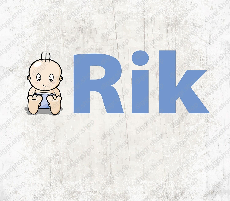 Geboortekaartje Baby Rik (1531)