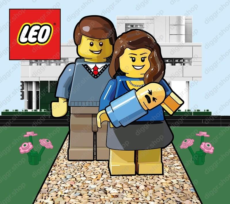 Geboortekaartje Lego 3 (706)