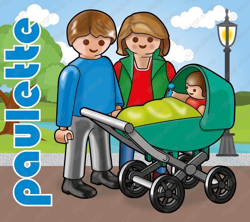 Geboortekaartje Playmobil Paulette 6 (723)