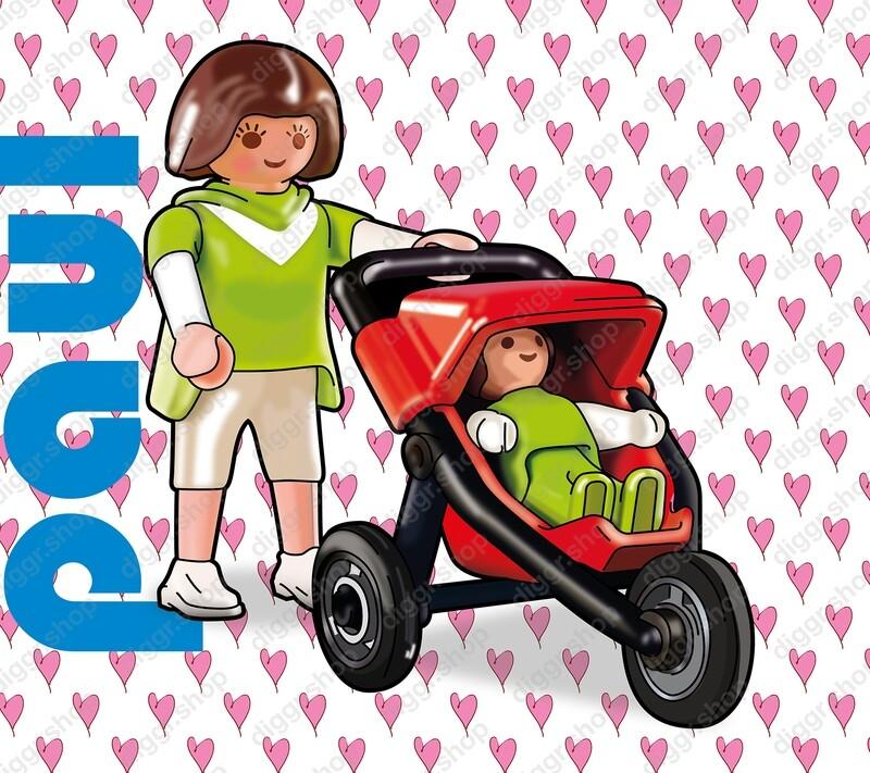 Geboortekaartje Playmobil Pousette (746)