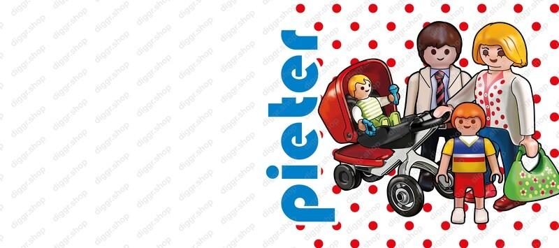 Geboortekaartje Playmobil Tweeling alleen II (748)