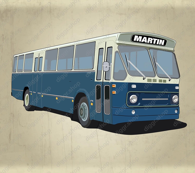 Geboortekaartje Lijnbus Nederland vintage (933)