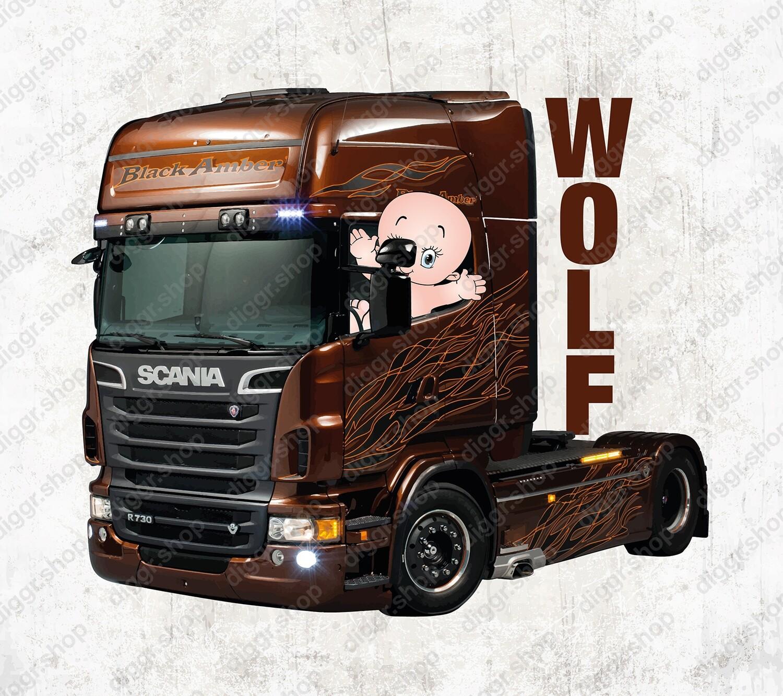 Geboortekaartje Scania trekker (2050)