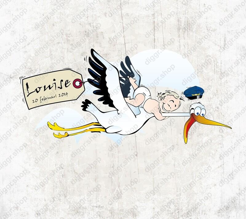Geboortekaartje stork (1801)