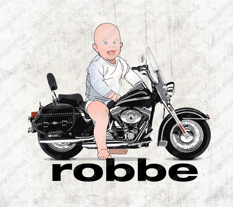 Geboortekaartje Baby op HD Heritage (2105)