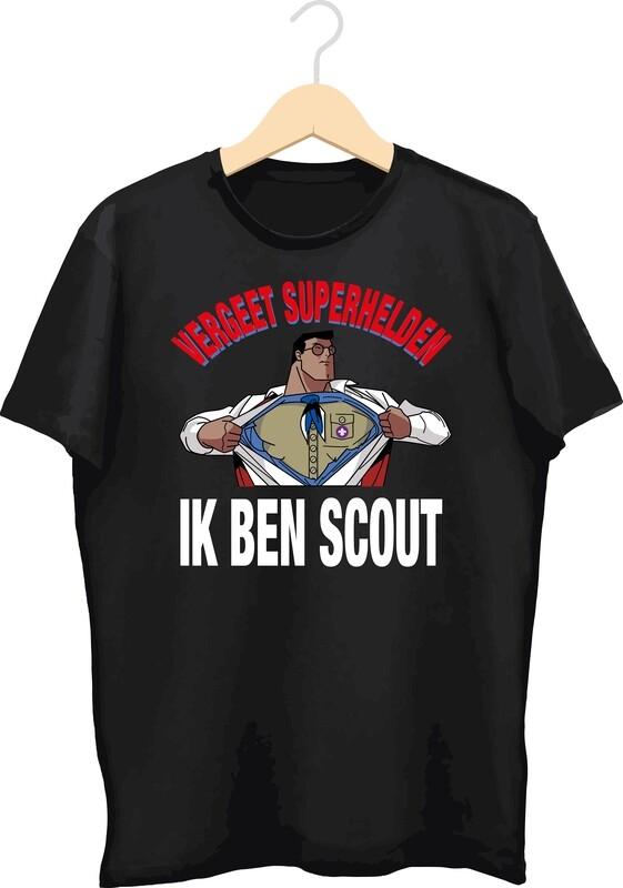 T-shirt met bedrukking (Vergeet superhelden)