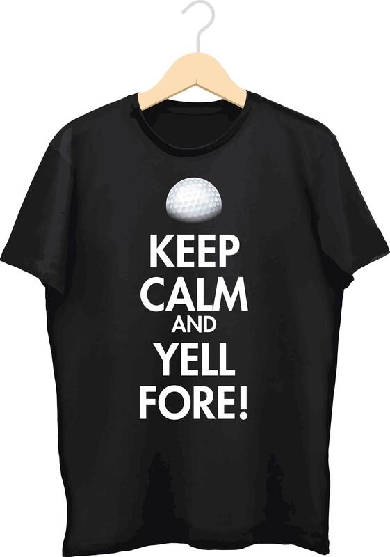T-shirt met bedrukking (Fore!)