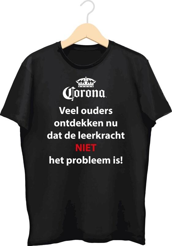 T-shirt met bedrukking (Corona)