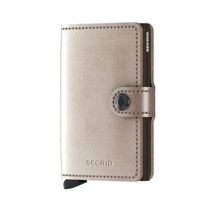 Secrid Metallic Champagne - brown miniwallet
