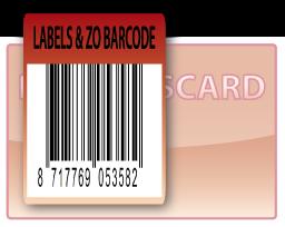 Barcode-etiket, 60 x 45 mm