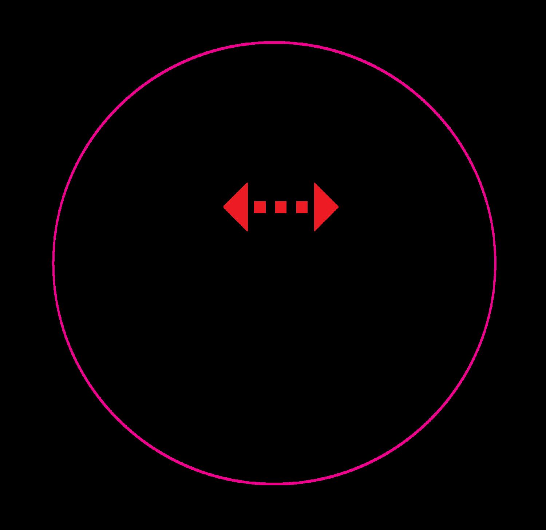 'Houd afstand', 12 cm rond