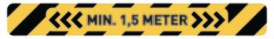Zelfklevende afstandsstrook, 125 x 10 cm