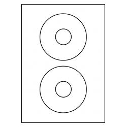 CD Label Rond 118 mm, 2 ex./vel